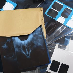 Röntgenbilder verpackt
